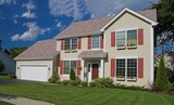 suburban american home poster
