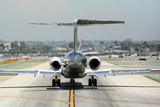 plane on taxiway poster