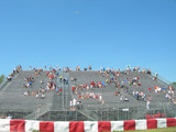grand stand at formula 1 race poster