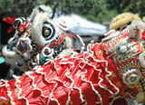 chinese dragon dancers poster