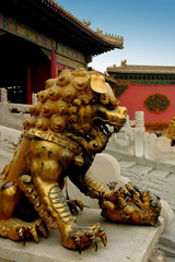 the gilded bronze lion