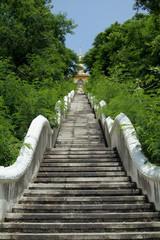 buddhist temle on hilltop