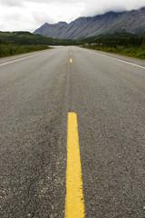 road to mountain ridge