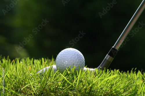 golf club with ball