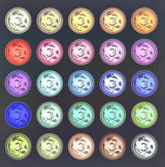 colorfull variety of buttons