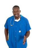 male doctor or nurse 2 poster