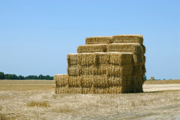 hay bale stack