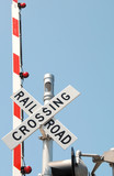 railroad crossing signal poster