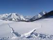 winter snow field moutain