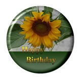 blumen button happy birthday poster