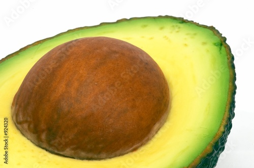 cut avocado closeup