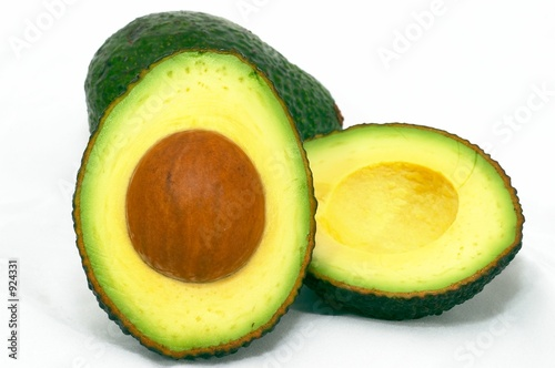 avocado cut and whole