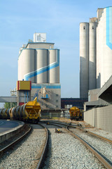 silo of cereals and train