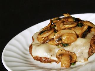 mushroom chopped steak