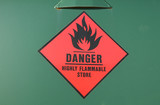 flammable store poster