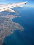 french riviera from the sky poster
