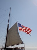 voile et usa poster