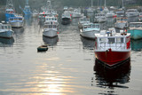 fishing boats in harbor poster
