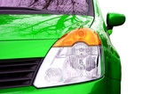 green sport car - front side - big beacon poster