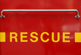 rescue sign poster