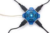 connected usb hub with blue light poster