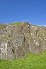 rock outcrop at stirling castle in scotland