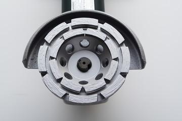 angle grinder with concrete diamond blade