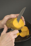 cutting a mango 1 poster