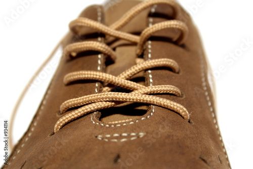 one brown shoe.isolated on white