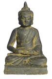 schöne, antike buddha statue, freigestellt poster