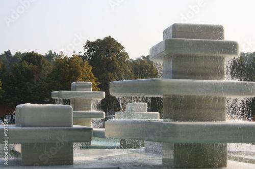 Leinwanddruck Bild springbrunnen 1