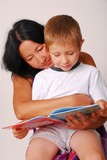 mom & son reading ten poster