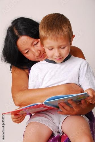 poster of mom & son reading ten