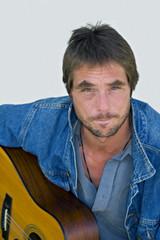 homeless musician portrait