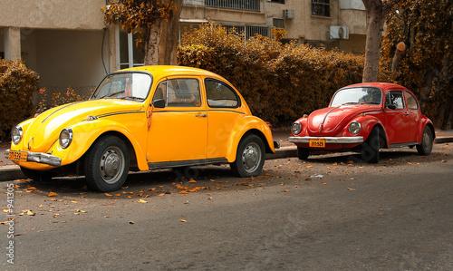 Foto op Plexiglas Oude auto s volkswagen beetle