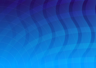 waves and lines background blue