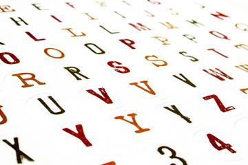 alphabet muticolore