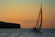 yacht near to an island