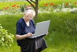 Fototapety women in computer