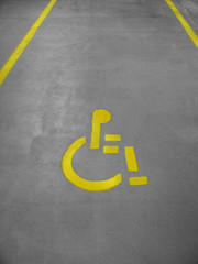 handicap parking space