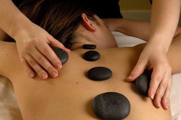 spa hot mineral stone treatment