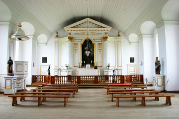18th century chapel interior