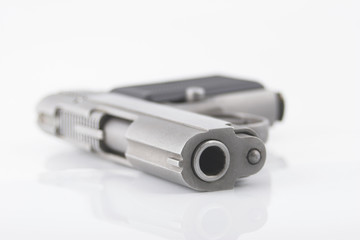 compact pistol - shallow depth of field