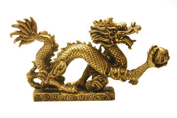 golden chinese imperial dragon