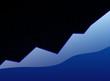 success graph blue