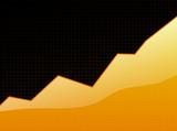 success graph orange poster
