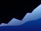 success graph blue poster