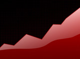 success graph red poster