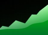 success graph green poster