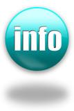 info blue button / sign poster